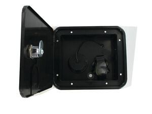 Black Gravity Plastic City Water Tank Inlet Hatch Camper