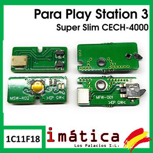 Sign-Button-Power-and-Expulsion-Sony-Play-Station-3-Super-Slim-Eject-CECH-4000