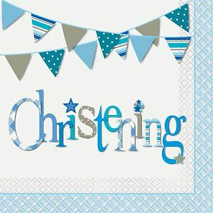 Image is loading Boys-Blue-Christening-Party-Supplies-Christening-Tableware  sc 1 st  eBay & Boys Blue Christening Party Supplies Christening Tableware | eBay