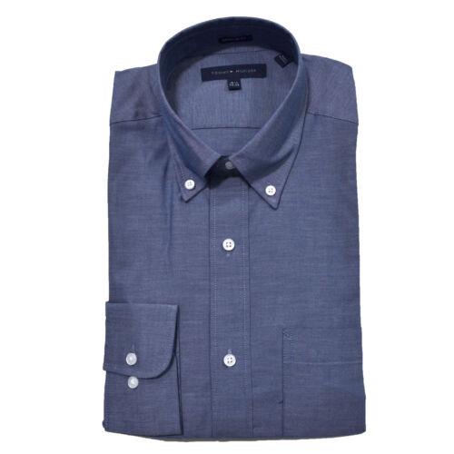 Tommy Hilfiger Mens Dress Shirt Buttondown Longsleeve Standard Cuff Business New