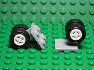 LEGO LEGOS Set of 2  NEW  Train Track Plain Rail Straight LIGHT BLUISH GRAY