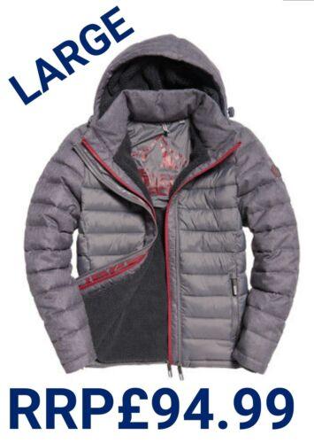 Ziphood Mens L Grey Fuji Rrp£94 Mix Herringbone Double New Jacket 99 Superdry 40 qzxZnCxpwg