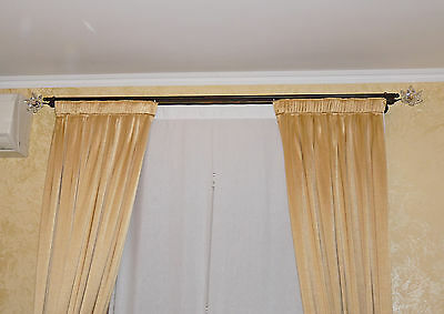 Stick To Tent Double Track End Wrought Iron Crystal Flower Art Bt5 Ebay