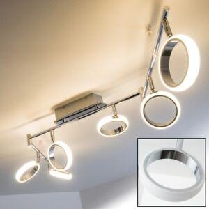 Design Deckenleuchte LED Spot Chrom Deckenlampe Leuchte Strahler verstellbar