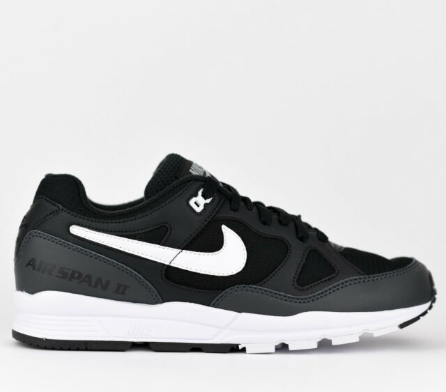 separation shoes d0523 02d65 Nike Air Span II 2 Men Lifestyle Sneakers Shoes New Black White AH8047-008