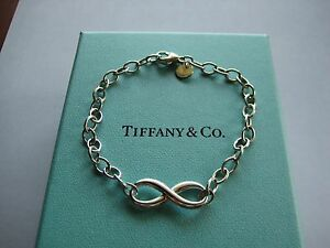Professionally-Polished-Tiffany-amp-Co-Infinity-Link-Bracelet-7-25-034-w-Box-Ret-235