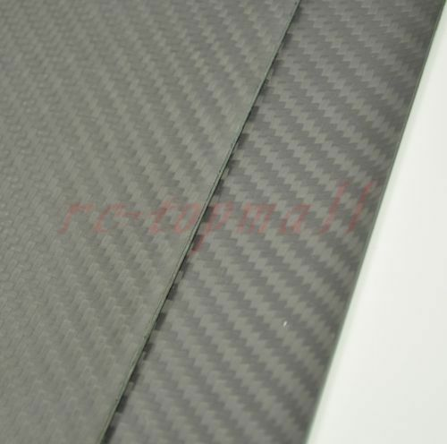 300mm*500mm*2.0mm Matte Surface Carbon Fiber plate panel sheet FOR RC Plane