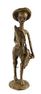 Statuetta, Statuetta Africana IN Bronzo, Vecchio-Coltivatore-Arte 1112