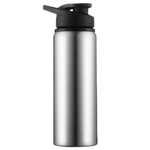 Portable Stainless Steel Sports Bottle Straight Drink Bicycle Travel Cold Kettle