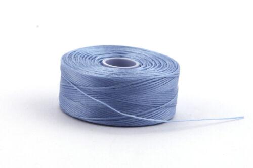 1 Rolle C-Lon Garn Light Blue ø0,30mm flexibles Perlengarn Fädelarbeiten
