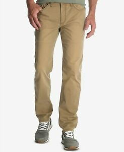 125-WRANGLER-Men-039-s-31W-30L-BEIGE-JEANS-CLASSIC-FIT-TAPERED-LEG-PANTS-DAMAGED