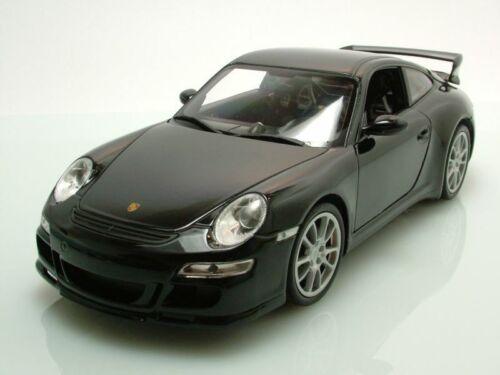997 gt3 2008 negro maqueta de coche 1:18 Welly Porsche 911