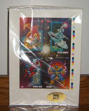 1992 Limited Edition Marvel Promo Cards Uncut SHEET Sealed #D /30000 RARE HTF