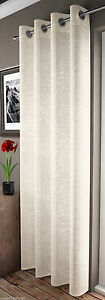 GLITTERING-SPARKLES-IVORY-CREAM-ADELE-EYELET-VOILE-CURTAIN-PANEL-FREE-POSTAGE