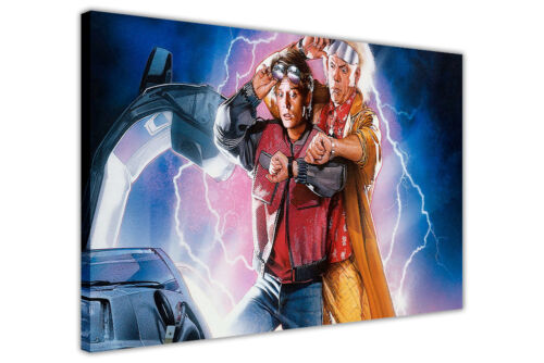 ICONIC BACK TO THE FUTURE 2 FILM POSTER FRAMED CANVAS PICTURES WALL ART PRINTS
