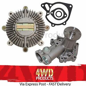 Viscous-Fan-Clutch-Water-Pump-SET-for-Pajero-NA-NG-83-91-2-3-4D55-2-5-4D56T