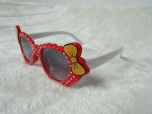 Lunettes-de-soleil-solaires-uv400-enfants-rouges-pois-blancs-noeuds-original