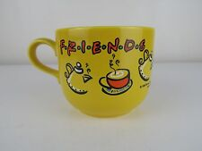FRIENDS TV SHOW Large Character Coffee Mug/Cup YELLOW Warner Bros 1998 Stafford