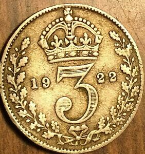 1922-UK-GREAT-BRITAIN-SILVER-THREEPENCE