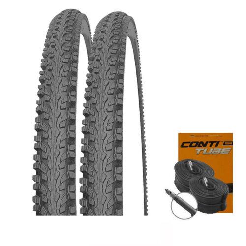 2 x MITAS Blade Classic Fahrrad Reifen Mittelsteg 26x1.90 CONTI SCHLÄUCHE