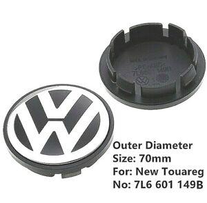 Tapabujes tapacubos rueda VW Volkswagen 70 x 58mm. Pack 4 Unida. 7L6 601 149 B