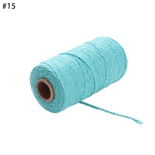 100 metros//rollo 2ply Cordel Cuerda Cuerda de Algodón los cables de panadería para la decoración del hogar