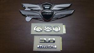 Image Is Loading Hood Trunk Wing G80 3 8 Letter Emblem
