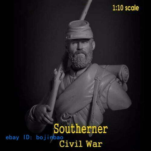 1//10 Scale Southerner Civil War Soldier Bust Resin Figure Model Kits Unpainted