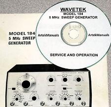 Wavetek 184 5mhz Sweep Genrator Operating Amp Service Manual Withschematics