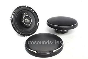 Kenwood-KFC-1695PS-640-Watts-6-5-034-3-Way-Coaxial-Car-Audio-Speakers-6-1-2-034-New