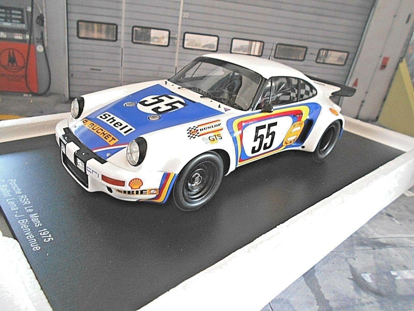 PORSCHE 911 Carrera 3.0 RSR LE MANS 1975 #55 Ballot-Lena bienv SP SPARK 1:18