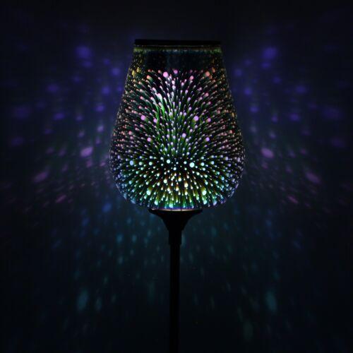 Solar Droplet Stargazer Stake Light lighting gal LED multi coloured garden