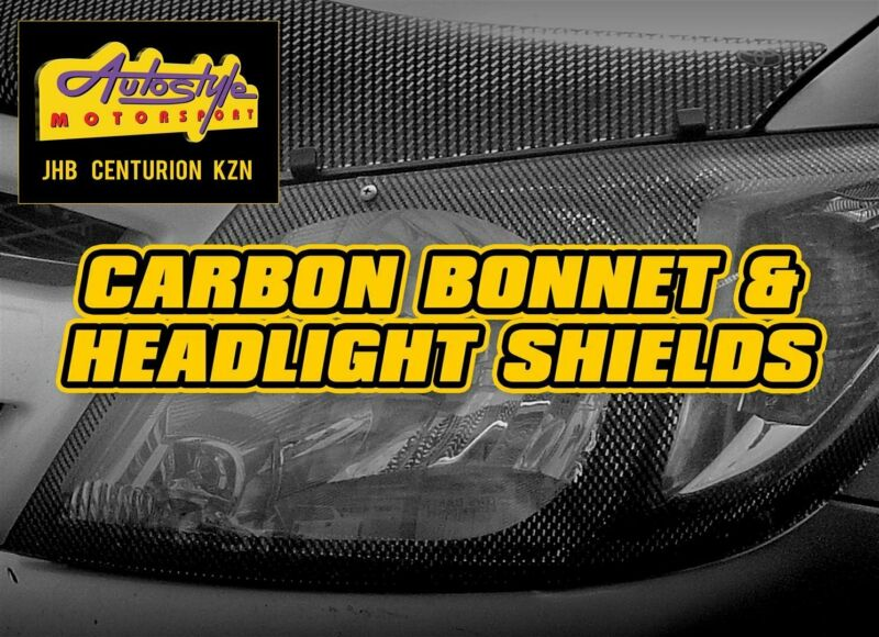 Carbon look headlight shields and  bonnet guards for most popular vehicles.protects and beautifie
