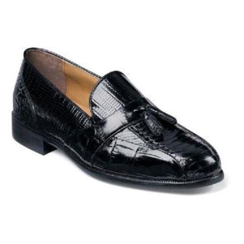 in cerca di agente di vendita Stacy Adams Uomo Alberto nero Bike toe tassel loafers loafers loafers Snakeskin scarpe 23059-01  il miglior servizio post-vendita