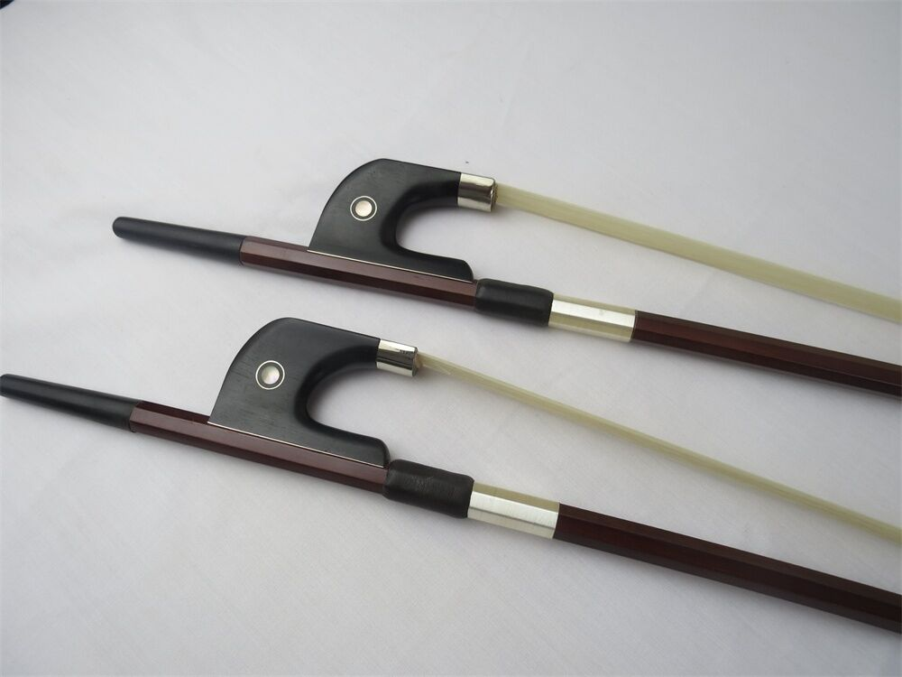 Bass part :2 Germany style brazilwood octagonal double bass bow 3/4