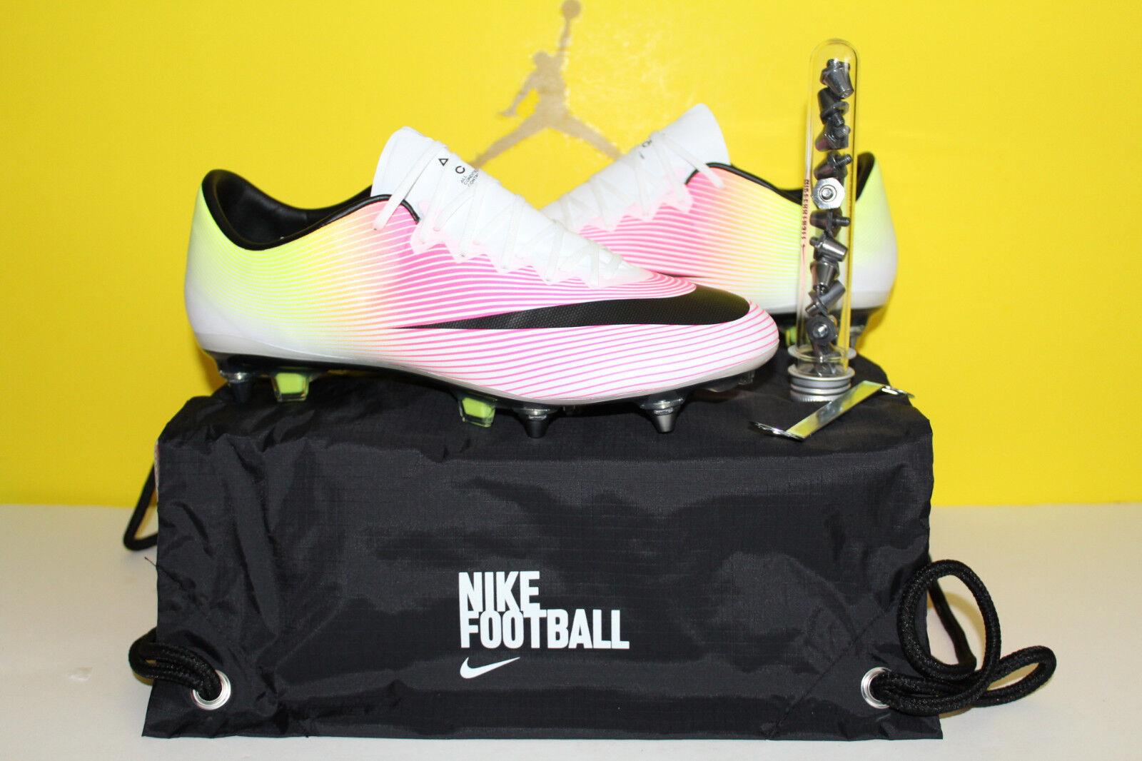 Nike Mercurial Vapor X SG-Pro Soccer Cleats 648555 108 Size 12 US