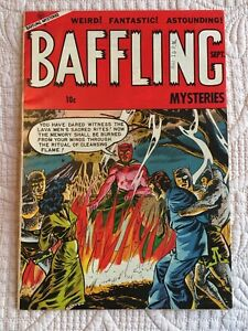 GOLDEN-Age-BAFFLING-17-Pre-Code-HORROR-FN-to-FN-VF-1953-LAVA-MEN-Cover