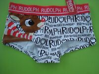 Rudolph The Red Nosed Reindeer Underwear Boy Boxer Brief Holiday S