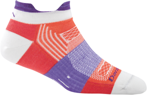 1797 Pulse Coral DARN TOUGH No Show Tab Light Cushion Womens Socks S M L Wool