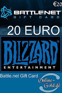 Battlenet Gift Card 20 Eur Key 20 Euro Blizzard Battlenet Guthaben