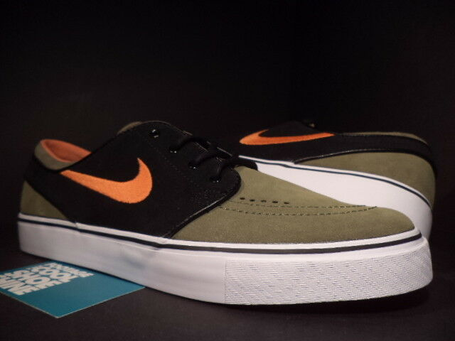 Nike Dunk ZOOM STEFAN JANOSKI SB UNDEFEATED UNDFTD OLIVE GREEN ORANGE noir 10