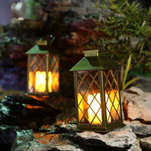 Solar Laterne Kerze Flackerlicht Außen Solarlampe Gartenleuchte Dekolampe Garten