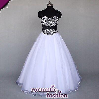 ♥Brautkleid, Hochzeitskleid in Schwarz/Weiß Größe 34-54 zur Auswahl+NEU+W077♥
