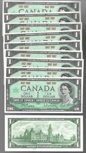 Canada-1-1867-1967-WITHOUT-SERIAL-AUNC-Banknotes-Lot-of-10-Notes