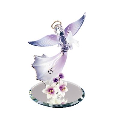 Glass Baron Elegant Angel Holding White Frosted Dove With Swarovski Crystal Eyes Ebay