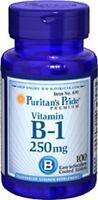 Vitamin B-1 250 Mg B1 Thiamine Hydrochloride - Dietary Supplement- 100 Tablets