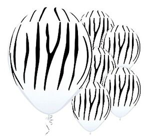 image is loading zebra tiger striped white balloons x 6 jungle