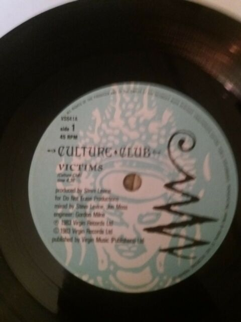 "Culture club Victims Vinyl Record 7""single"