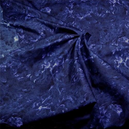 BTHY Purple Swirls Intense Tone-on-Tone Seattle Bay Cotton Abstract Print