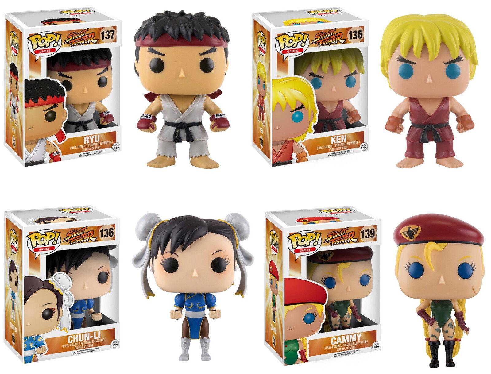 Funko Pop  Juegos  de Street Fighter II Vinilo Figura Set  Cammy, Chun-li, Ken, Ryu